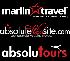 AbsoluteWedsite, AbsoluTours, and  Marlin Travel (Brampton East Location Inside Walmart)